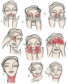 FACIAL MASSAGE - The constant pressure/repeated movements will oxygenate the skin causing cell activity and stimulation of lymph flow. Beauty Care, Diy Beauty, Beauty Skin, Beauty Hacks, Face Beauty, Face Yoga, Face Massage, Tips Belleza, Skin Firming