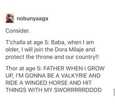 I love how Thor's is in all caps, it suits his character lol