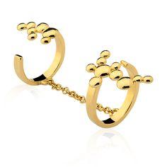 DOT COLLECTION ! #ring #ringcuff #gold #polkadot #dot #spot www.designmariadolores.com.br