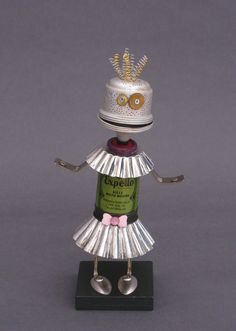 Robots Made From Found Objects - 'Laverne' sculpture by CastOfCharachters23, via Etsy