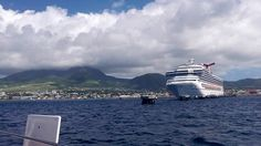 The Carnival valor docked in St Kitts #cruise