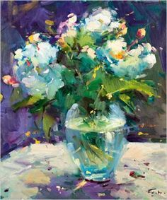 Por amor al arte: Guido Frick Modern Art Paintings, Beautiful Paintings, Art Floral, Abstract Flowers, Watercolor Flowers, Painting & Drawing, Watercolor Paintings, Love Art, Painting Inspiration