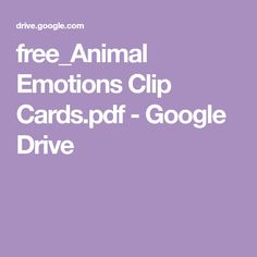 FREE printable Emotions activity with an animal theme! Great for toddlers and preschoolers to learn about feelings, animals and build fine motor skills by clipping the cards with clothespins. Emotions Activities, Toddler Learning Activities, Creative Activities, Therapy Activities, Book Activities, Preschool Activities, Infant Classroom, Preschool Class, Happy Kids