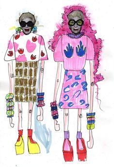 Resultado de imagem para elyse blackshaw shrimps Beauty Illustration, Collage Illustration, People Illustration, Illustrations, Croquis Fashion, Fashion Sketches, Fashion Books, Fashion Art, Fashion Design