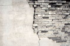 Wall, Brick, White, Black, Old, Broken, Brick Wall, Fragility, Textured, Warehouse, Cracked, Plaster, Surrounding Wall
