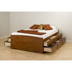 @Overstock - Who says a queen-sized bed has to take up a lot of room? With this tall queen captain's platform storage bed, you'll gain, not lose, storage space in your bedroom.http://www.overstock.com/Home-Garden/Cherry-Tall-Queen-12-drawer-Captains-Platform-Storage-Bed/3701483/product.html?CID=214117 $537.70