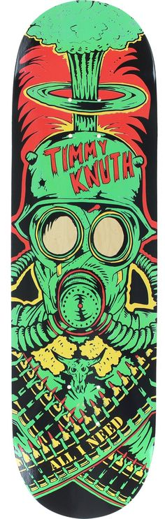 All I Need Skateboards Timmy Knuth War Machine Skateboard Deck