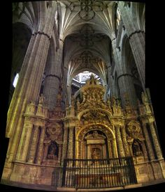 Salamanca Cathedral interior *** photo by Robert Bovington