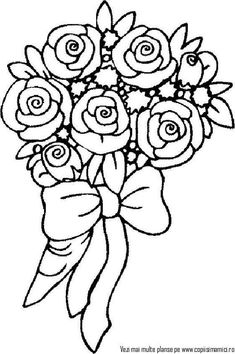 A new set of printable coloring pages with beautiful images is available for you to print and colorize with your kids! This time we have rose-themed coloring pages for you! Rose Coloring Pages, Printable Flower Coloring Pages, Garden Coloring Pages, Vegetable Coloring Pages, Pattern Coloring Pages, Coloring Pages For Girls, Mandala Coloring Pages, Coloring Pages To Print, Coloring For Kids