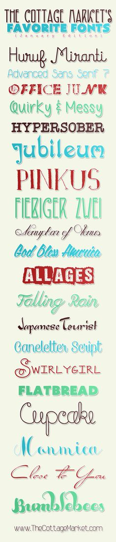 Free Fonts that are tons of fun..fresh and fabulous - The Cottage Market