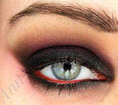 Vampire makeup - line waterline with red