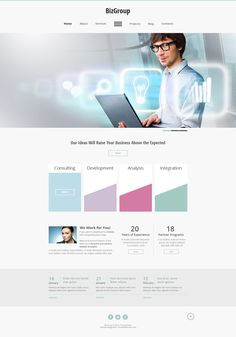 Gratis #HTML5 Theme für Business Website (minimalistisches Design) http://www.templatemonsterblog.de/gratis-html5-theme-business-website/