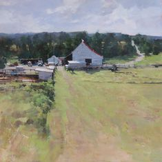 BoldBrush Painting Competition Winner - August 2017 | High Oaks Farm_18x18 by Deborah Tilby