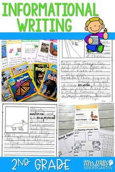 Informational writing in second grade. See how to teach writers' workshop in a grade classroom using our anchor charts and resources. Writing Lesson Plans, Writing Curriculum, Preschool Lesson Plans, Kindergarten Writing, Writing Lessons, Teaching Writing, Teaching Ideas, Homeschooling, Writing Process