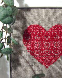 cross stitch with modern frame