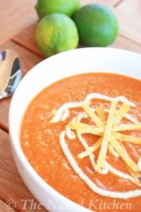 Fiery Mexican Soup | The Naked Kitchen.  I have wanted a healthy version of Tortilla Soup!  Fingers crossed!