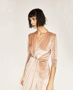 Image 6 of CROSSOVER VELVET DRESS from Zara