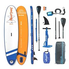 aquaplanet x MAX Stand Up Paddle Board kit. Air Pump with Pressure Gauge,Adjustable Aluminium Floating Paddle, Repair Kit,Heavy Duty Rucksack,Premium Leash & 4 Kayak Seat Rings Sup Boards, Stand Up Paddle Board, Kayak Seats, Inflatable Sup Board, Aqua, Kayak Paddle, Remo, Pressure Gauge, Paddle Boarding