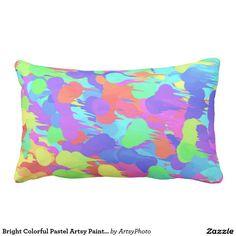 Bright Colorful Pastel Artsy Paint Splatter Design