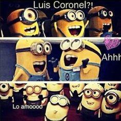 Minions Love Luis Coronel Too c;