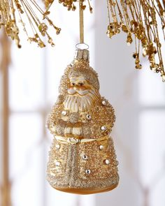 Golden Santa Christmas Ornament