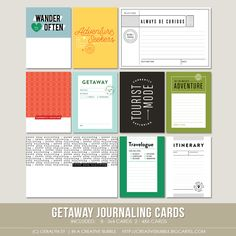 Getaway Journaling Cards (Digital)