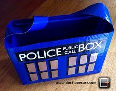 Whoa. Doctor Who tardis duct tape bag?!