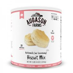 Augason Farms Buttermilk Biscuit Mix is blended from top quality ingredients for baking those perfect, flaky biscuits everyone loves. This amazingly versatile mix can also be used to make mouthwaterin