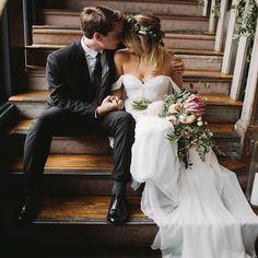 Off shoulder Train Sweetheart Chiffon Simple Cheap Wedding Dress, AB10 – AlineBridal