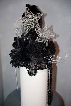 Dark Winter Queen head piece, headpiece by Kim Sleno of Kim Sleno Photography