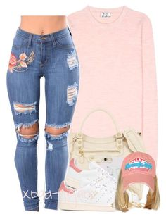 """""""{Uh, ooh, fresh out the bed Uh, ooh, count up the deads}"""" by xbad-gyalx ❤ liked on Polyvore featuring Acne Studios, Balenciaga, adidas Originals, Kendra Scott and Lana"""