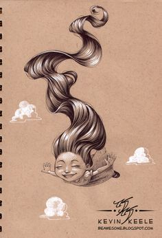 Kevin Keele-sketchbook. This guy can draw HAIR!