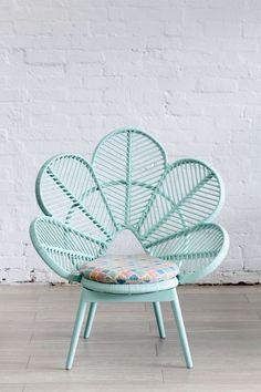Seafoam peacock chair