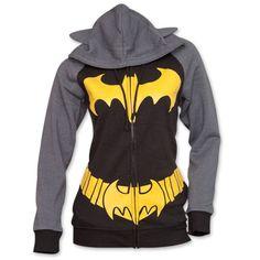 Batman Logo Womens Hoodie Costume - Black