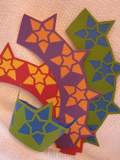 12 Bright STAR Cupcake Wrappers by WhimsyGold on Etsy, $9.50