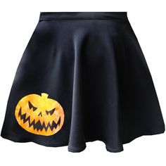 Gabrielle Hallowe'en Appliqu Skater Skirts With Pockets