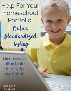 Get the help you need for your homeschool portfolio with this amazing online standardized testing resource! Find out how this affordable and easy to use resource was a blessing to this busy mom and her boys.