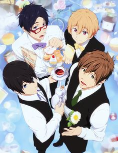 Haruka, makoto, rei, or nagisa. The anime is free! Anime Guys, Manga Anime, Anime Art, Rei Ryugazaki, Otaku, Splash Free, Free Eternal Summer, Makoharu, Makoto Tachibana