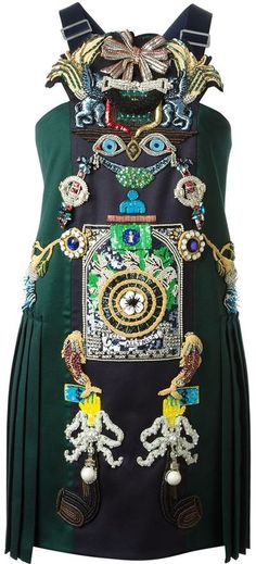 Mary Katrantzou 'Tiki Man' dress on shopstyle.com