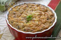 Torta Integral de Bacalhau com Abobrinha » Peixes e Frutos do Mar, Receitas Saudáveis, Tortas e Bolos » Guloso e Saudável