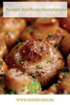 Recept: knoflookchampignons. Ben jij dol op champignons, knoflook en boter? Dan is dit recept echt wat voor jou. Portobello, Vegan Recipes, Cooking Recipes, Potato Vegetable, Buffet, Xmas Food, Weight Watchers Meals, Catering, Brunch