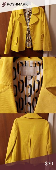 Banana Republic jacket...like new! Beautiful yellow color, excellent quality! Banana Republic Jackets & Coats