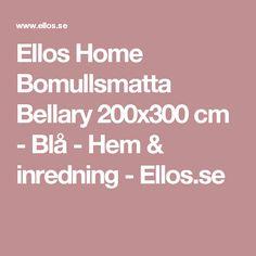 Ellos Home Bomullsmatta Bellary 200x300 cm - Blå - Hem & inredning - Ellos.se