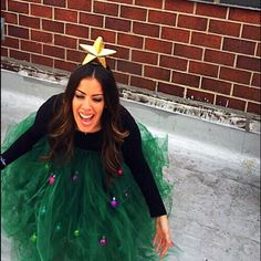 CHRISTMAS TREE DRESS HOMEMADE, one of a kind Christmas tree dress! Perfect for any upcoming holiday party. Elastic band along top to fit any size. Comes with star headband and ornaments.. Available to ship ASAP (ugly sweater, Xmas, Christmas) Dresses