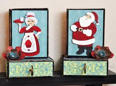 Create beautiful stocking holders with the new Quilted Christmas cartridge! #cricut
