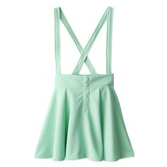 [k1255c] ❤ liked on Polyvore featuring skirts, bottoms, overalls, clothing - skirts and green skirt