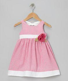 Love this Fuchsia Gingham Seersucker Dress - Infant & Toddler on #zulily! #zulilyfinds