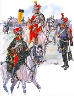 """Napoleon's Guards of Honour, 1813-14""   • Trumpeter, as 1812 regulations • Trumpeter, 4e Régiment • Trumpeter, 1er Régiment"