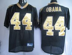 2010 NFL Jersey New Orleans Saints Barack Obama #44 Black $25.00
