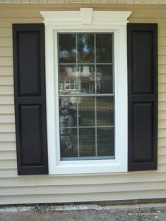 Great window trim and shutters to dress up the front of the house and add some quick curb appeal!